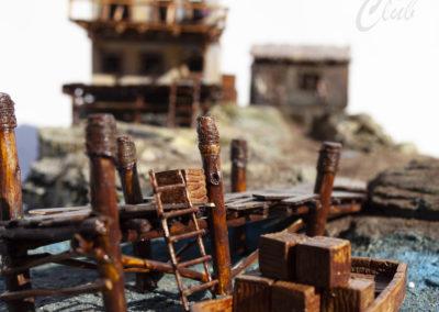 Naturhafenplatte Piraten mit Geländestücken
